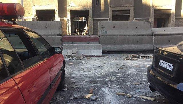 На месте взрыва в Сирии. Архивное фото