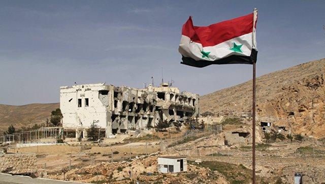 Разрушенное здание в Сирии. Архивное фото