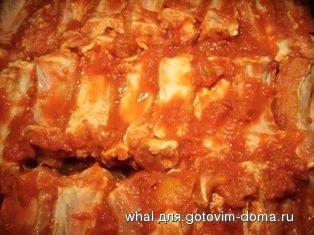 Рёбрышки в помидорном маринаде фото к рецепту 6