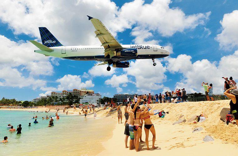 Пляж - фото самых красивых и необычных пляжей в мире. Пляж с самолетами