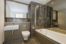 Коричневый цвет в интерьере ванной
