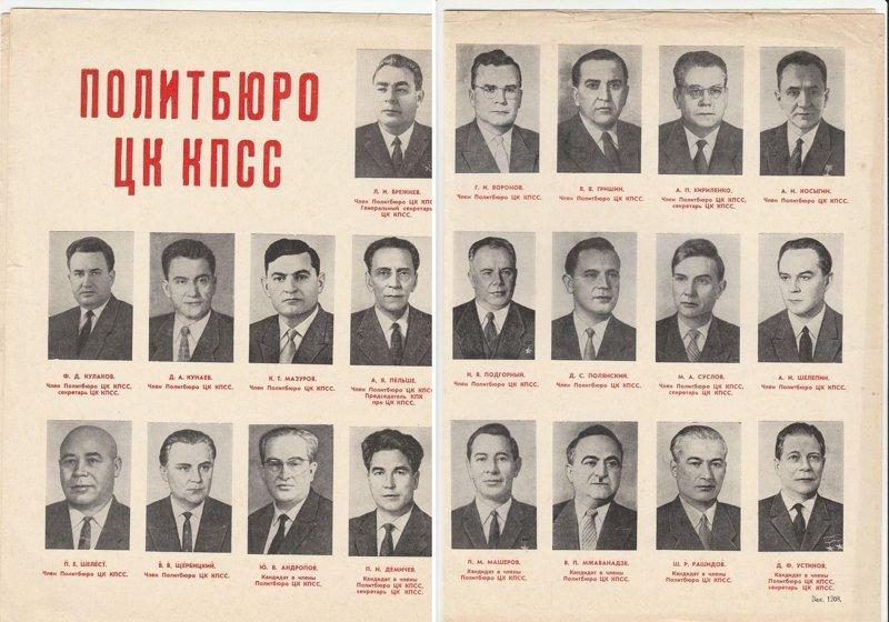 1971. Политбюро ЦК КПСС СССР, память, россия