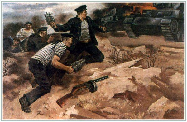 Подвиг пяти черноморцев преградивших своими телами путь к Севастополю