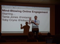 Toby talking online engagement