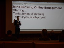 Tania Jones talking about online engagement