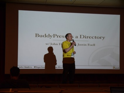 Justin kicks off the BuddyPress as a Directory talk