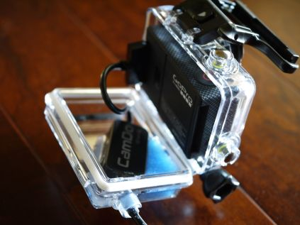 Cable connected to a GoPro HERO port