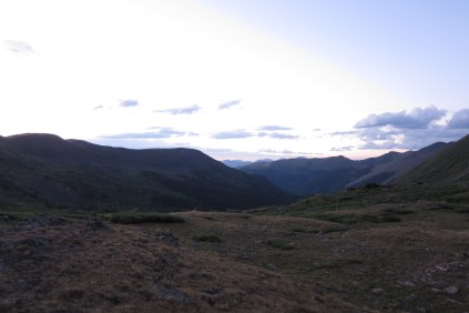 Tincup Pass West Side Dusk