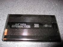 "An aluminum 2.5"" laptop hard drive enclosure."