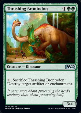 M20 4 Thrashing Brontodon