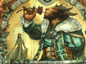 Lovestruck-Beast-Throne-of-Eldraine-MtG-Art