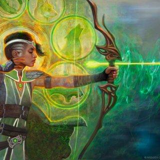 Viviens-Arkbow-War-of-the-Spark-Art