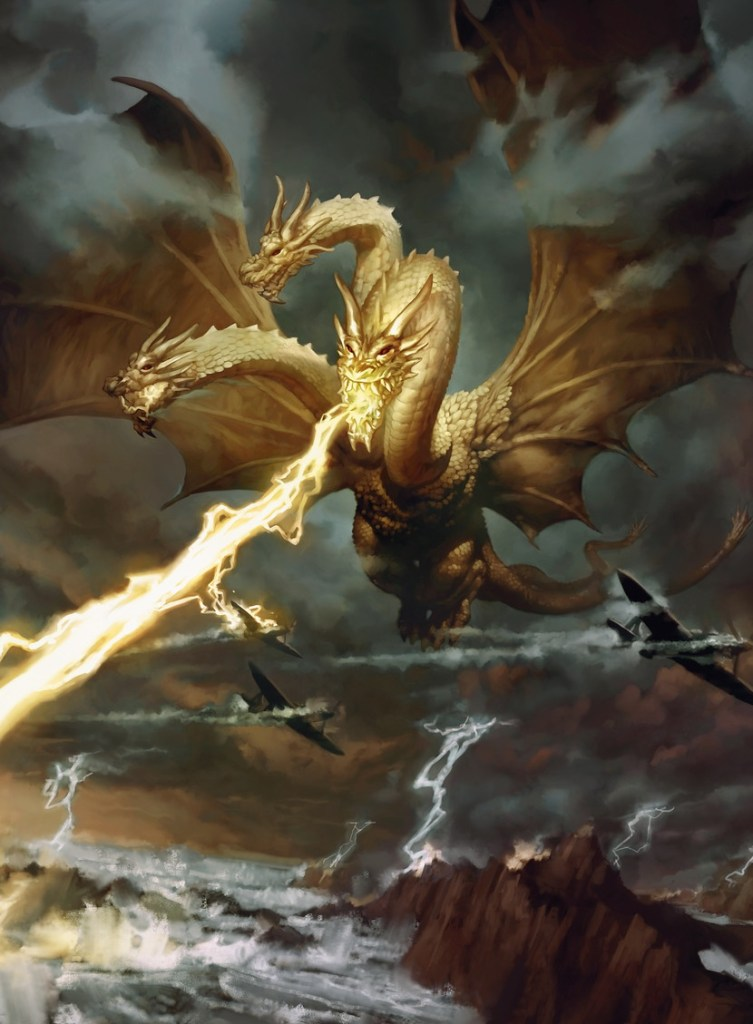 Ghidorah-King-of-the-Cosmos-Art-by-Nicholas-Gregory