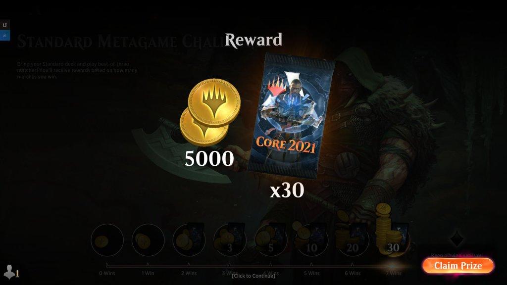 Standard Metagame Challenge 7 Wins M21