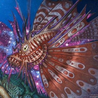 Stinging-Lionfish-Theros-Beyond-Death-Art