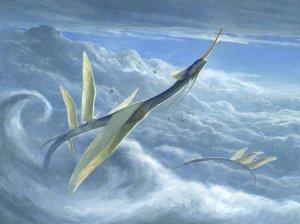 Yorion, Sky Nomad Art by Steve Belledin