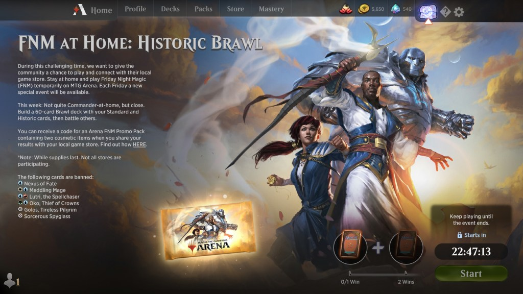 FNM at Home: Historic Brawl