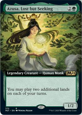 Azusa, Lost but Seeking Spoiler Card Style