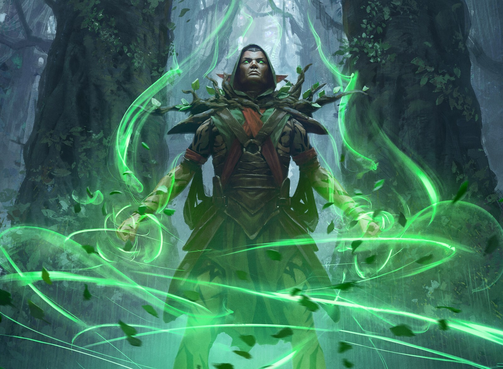 Llanowar-Visionary-Core-Set-2021-MtG-Art