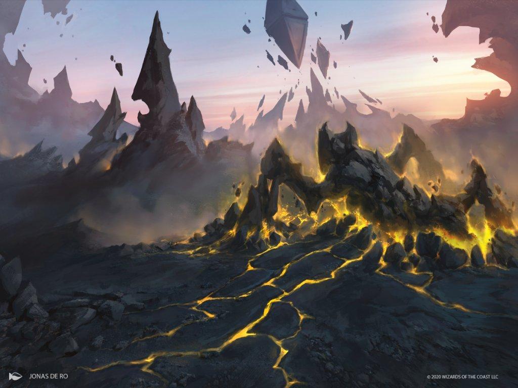 Crawling-Barrens-Zendikar-Rising-MtG-Art