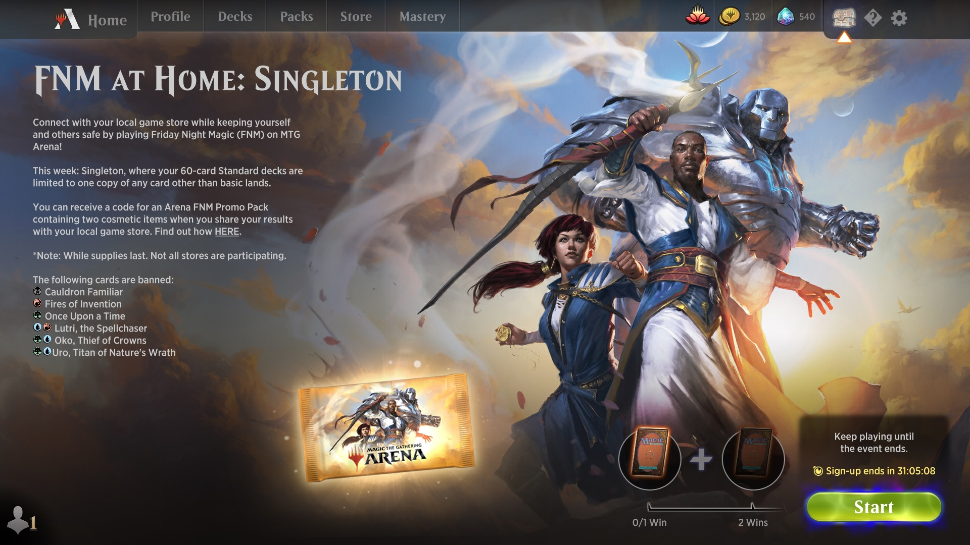 FNM at Home: Singleton