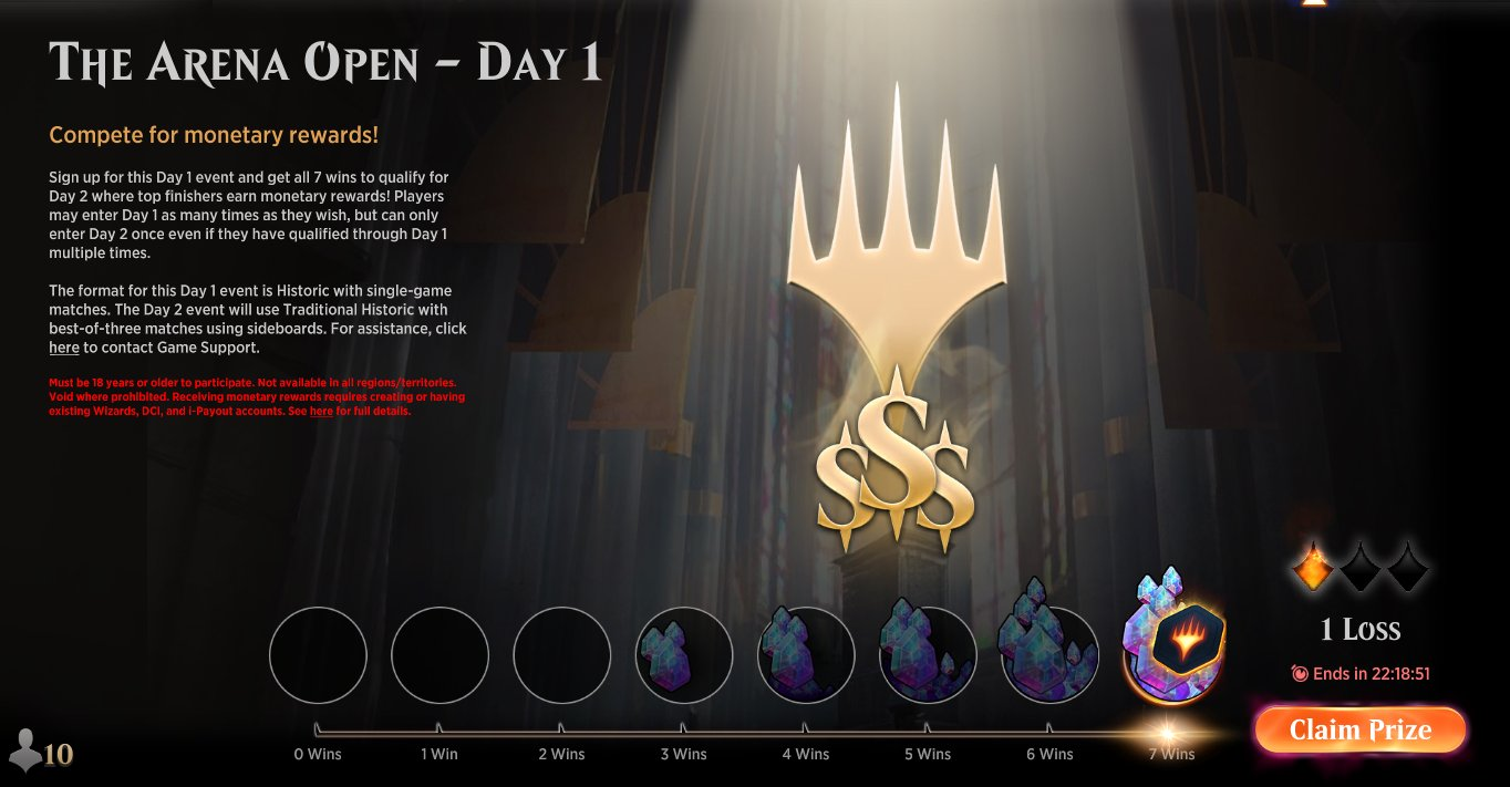 Arena Open Day 1