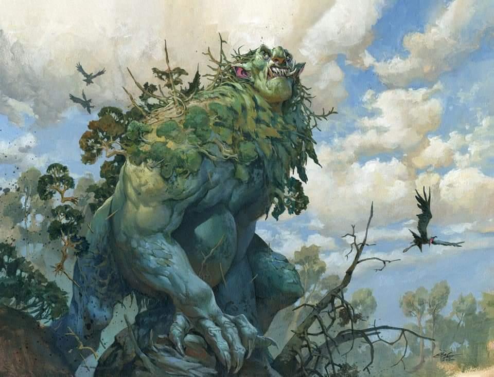 Old-Growth Troll Art by Jesper Ejsing
