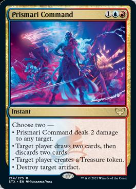 214 Prismari Command Strixhaven Spoiler Card