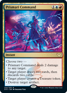 214 Prismari Command Strixhaven Spoiler Card