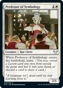 024 Professor of Symbology Strixhaven Spoiler Card