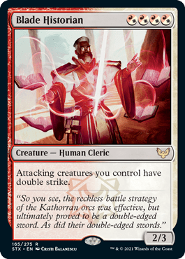 165 Blade Historian Strixhaven Spoiler Card