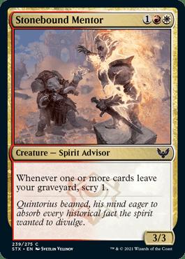 239 Stonebound Mentor Strixhaven Spoiler Card