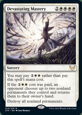 014 Devastating Mastery Strixhaven Spoiler Card