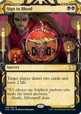 032 Sign in Blood Mystical Archives Spoiler Card