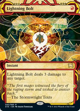 042 Lightning Bolt Mystical Archives Spoiler Card