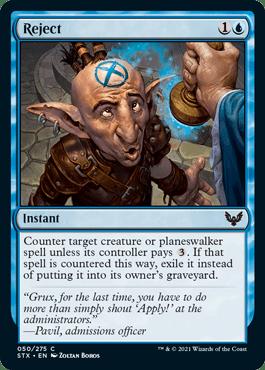 050 Reject Strixhaven Spoiler Card