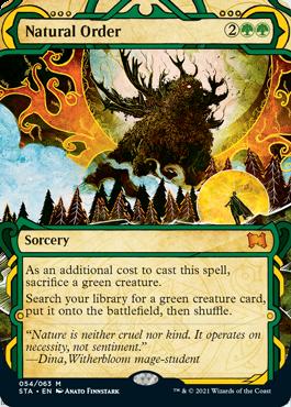054 Natural Order Mystical Archives Spoiler Card