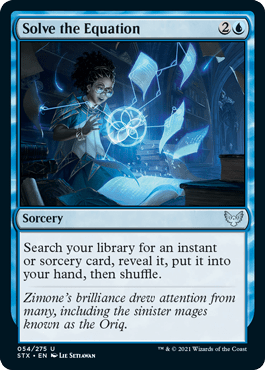 054 Solve the Equation Strixhaven Spoiler Card