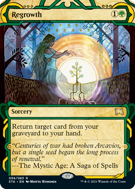 056 Regrowth Mystical Archives Spoiler Card