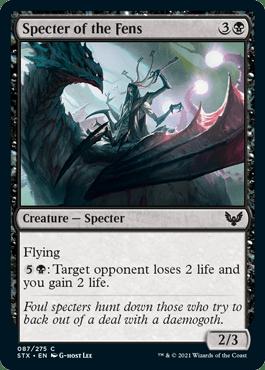 087 Specter of the Fens Strixhaven Spoiler Card
