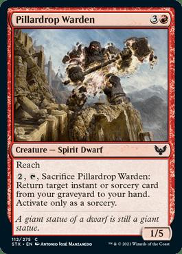 112 Pillardrop Warden Strixhaven Spoiler Card