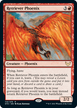 113 Retriever Phoenix Strixhaven Spoiler Card