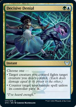 177 Decisive Denial Strixhaven Spoiler Card
