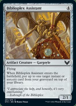 251 Biblioplex Assistant Strixhaven Spoiler Card