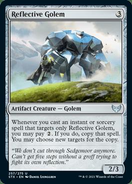 257 Reflective Golem Strixhaven Spoiler Card
