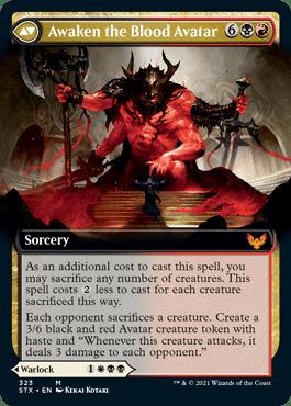 STX 323B Awaken the Blood Avatar Extended Art