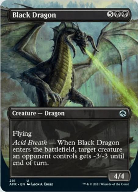 AFR 291 Black Dragon Borderless