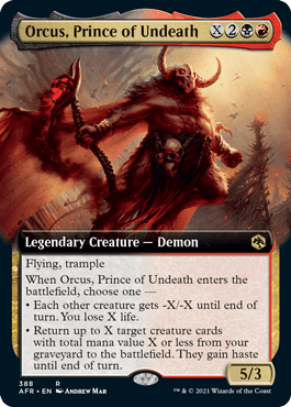 AFR 388 Orcus, Prince of Undeath Extended
