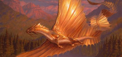 Adult Gold Dragon Art by Chris Rahn