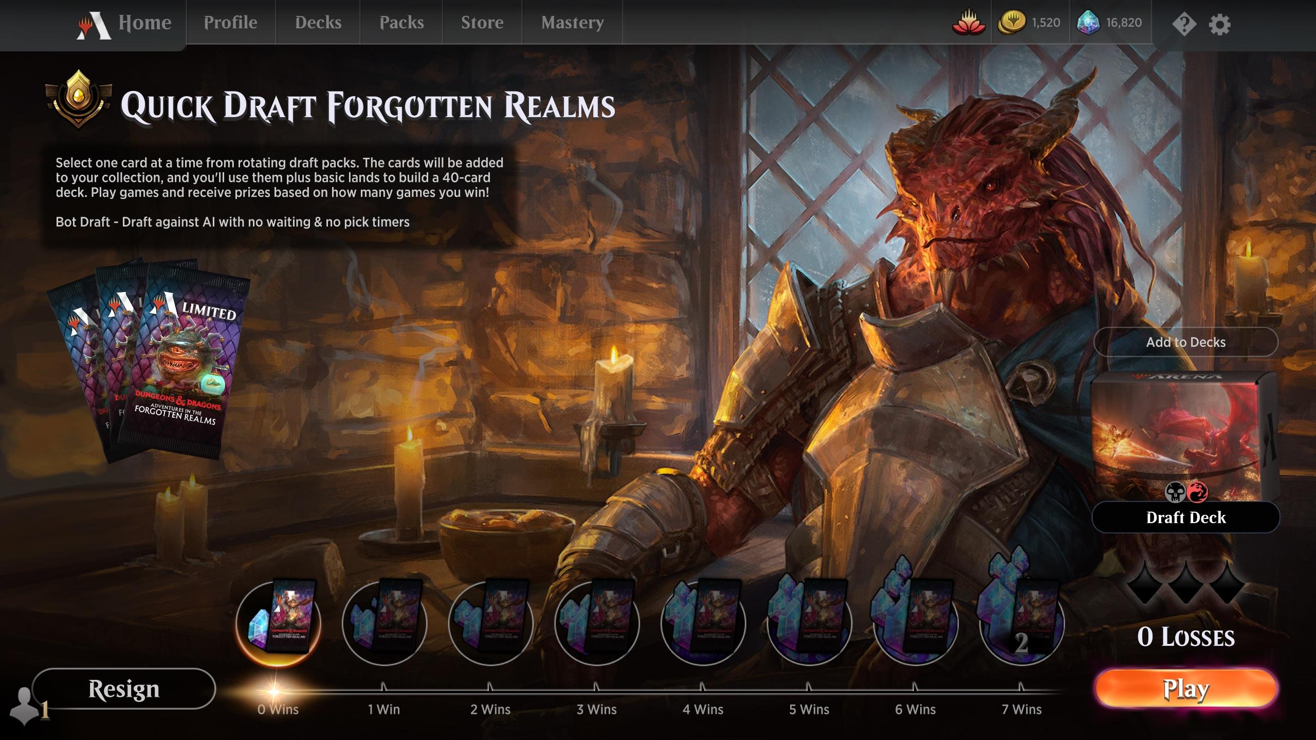 Quick Draft Forgotten Realms